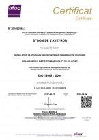 L'installation de stockage des déchets de Solozard à nouveau certifiée ISO 14001